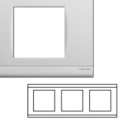 Plaque triple horizontale blanche