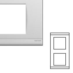 Plaque double verticale blanche