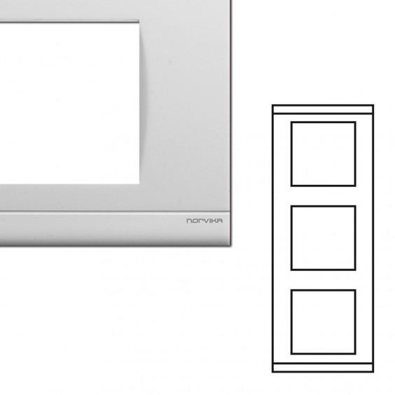 Plaque triple verticale blanche