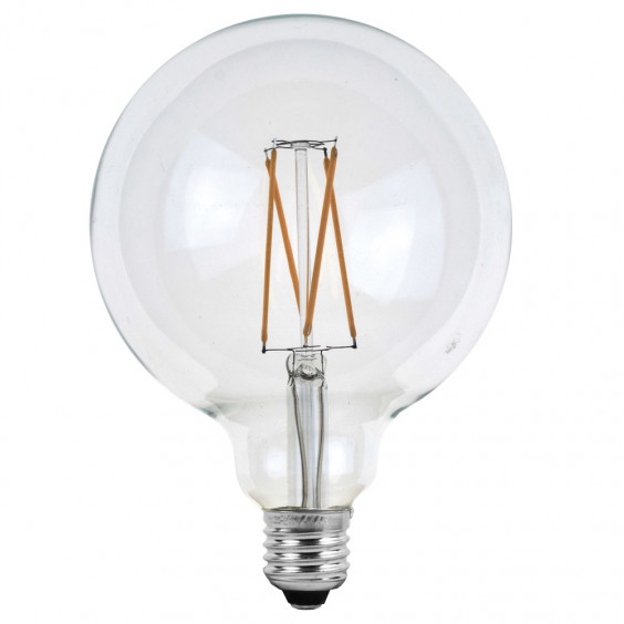 Ampoules LED ronde à filaments E27 - Verre transparent