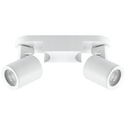 spot double blanc 8w gu10 sans ampoule