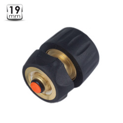 Raccord rapide 19mm laiton + Stop