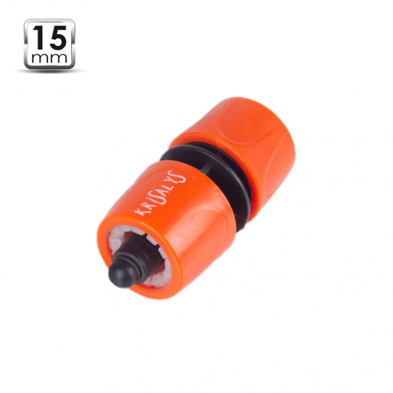 Raccord rapide 15mm plastique + Stop
