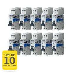 Lot de 10 disjoncteurs 16A 1P+N CE NALTO