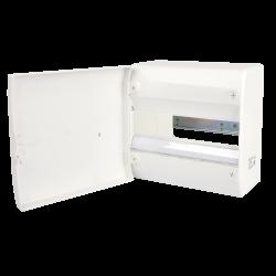 Tableau électrique vide 1 rangée 13 modules Avec Porte Rail Amovible NF NALTO
