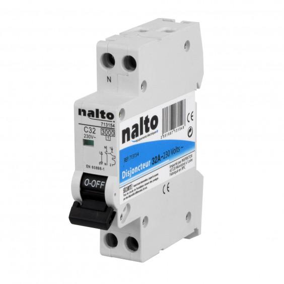 Disjoncteur 32A 1P+N NALTO