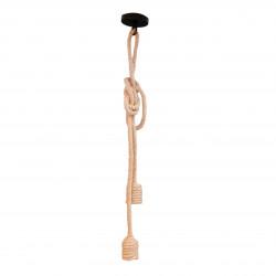 Suspension Corde en Lin 2 Lampes 60W E27 120cm CREALYS