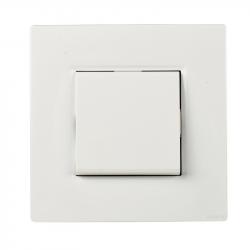 Interrupteur Va et Vient 10A Complet Blanc NOANE