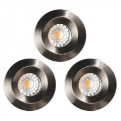 Lot de 3 Spots Encastrable Salle De Bain IP65 LED COB 10W Alu
