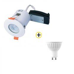 Pack Spot encastré fixe RT2012 10W + Ampoule LED GU10 5W blanc chaud